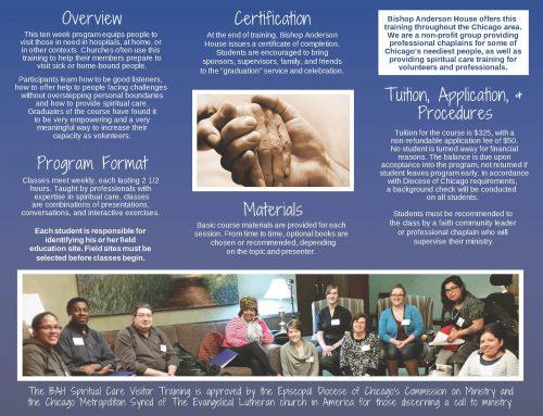 Spiritual Care Visitor Training Brochure